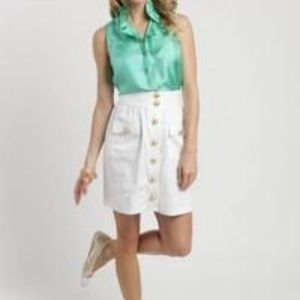New! Elizabeth McKay Green Skirt 6